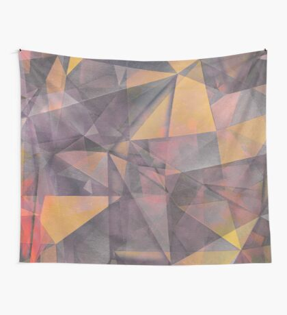 triangles yellow grey #pattern #decor Wall Tapestry