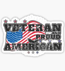 Veterans Day Proud American Distressed Sticker