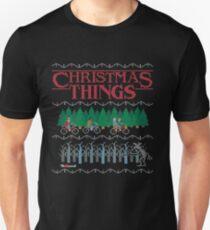 Tees Stranger Merry Christmas Ugly Sweatshirt Holiday Crewneck T-Shirt