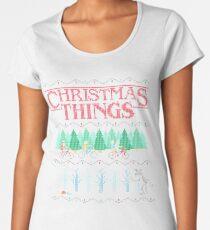 Tees Stranger Merry Christmas Ugly Sweatshirt Holiday Crewneck Women's Premium T-Shirt