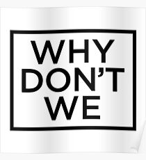 Why Dont We Merchandise Poster
