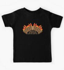 Bridgeburner zuerst mit einer brennenden Brücke aus Kinder T-Shirt