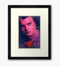 Steve Harrington Stranger Things Framed Print
