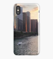 Chicago River Sunset, Illinois iPhone Case