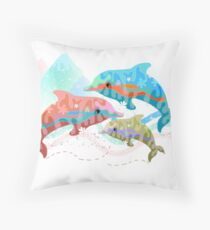 Camouflage Dolphins Throw Pillow