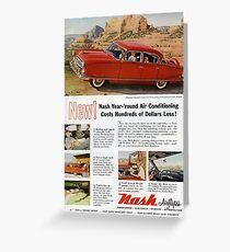 1950s Nash Airflyte. Classic 1950s Retro Car  Greeting Card