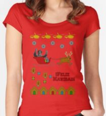 Pinochet Christmas Sweater Women's Fitted Scoop T-Shirt