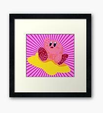 Kirby Bits Framed Print