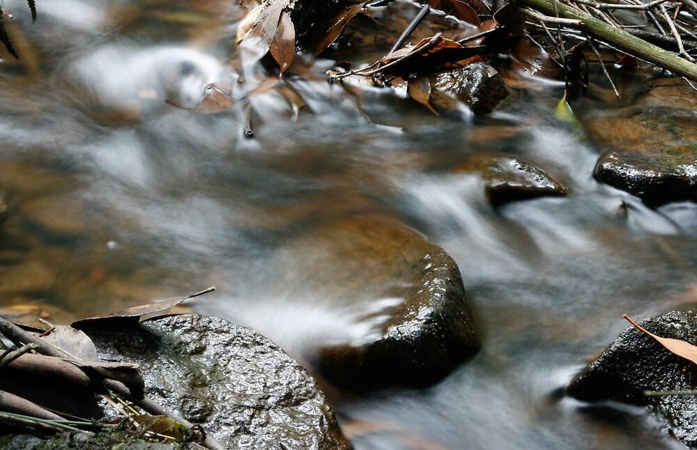 Water stream in motion by aokman