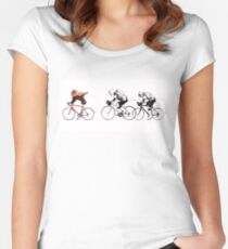 Ewok Bicycle Chase Women's Fitted Scoop T-Shirt