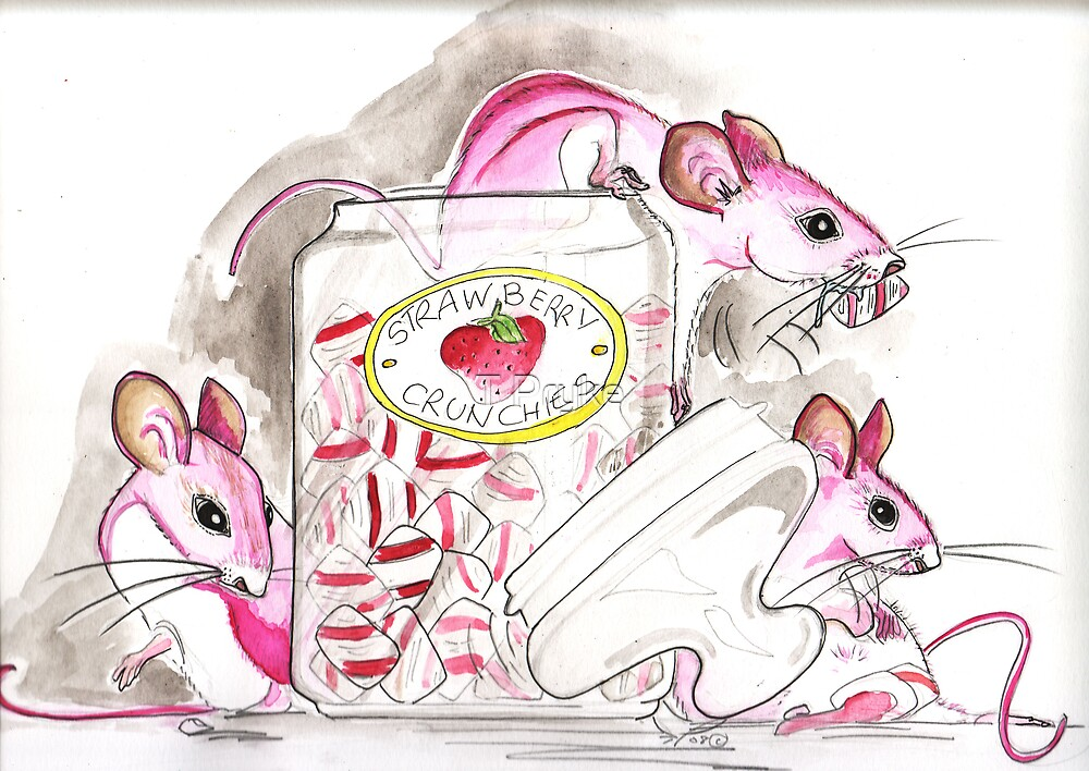 Pink sugar mice by T Pryke