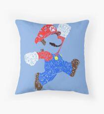 Super Mario Bits! Throw Pillow