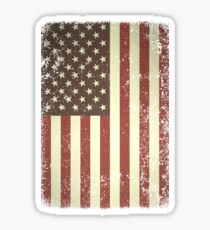 USA US American Flag Vintage Distressed  Sticker