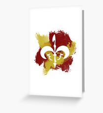 Watercolor Royal Symbol Greeting Card