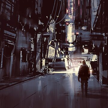 Sci Fi Cyber Punk Science Fiction Digital Painting by bFred