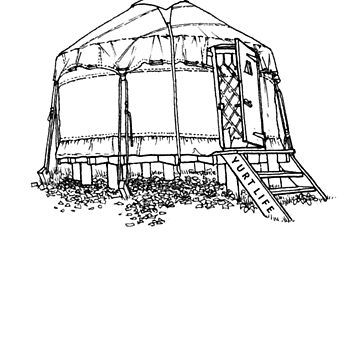 Yurt Life - Black Outline by springparadise
