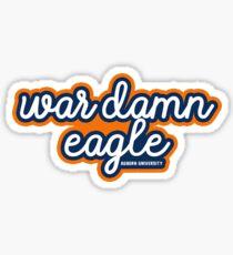 War Damn Eagle - Auburn University Sticker
