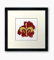 Watercolor Royal Symbol (Version 2) Framed Print
