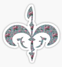 Floral Royal Symbol Sticker