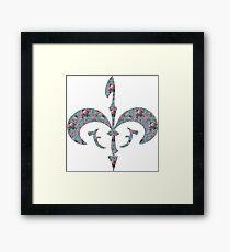 Floral Royal Symbol Framed Print
