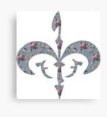 Floral Royal Symbol Canvas Print