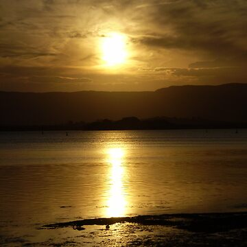 Cloudy Sunset over Water - Lake Illawarra (2) by misnetcha