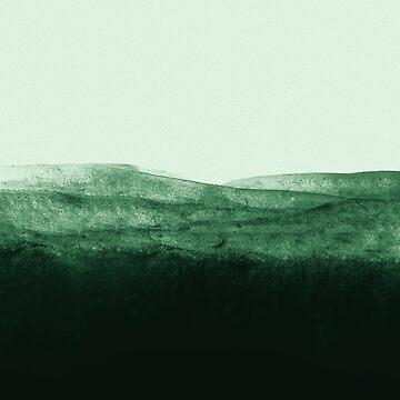 Moss Watercolor Meadow by adventurlings