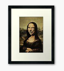 The Mona Lisa needs braces Framed Print
