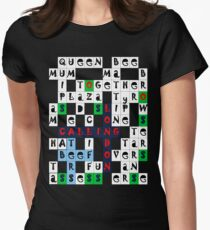 London Crossword Women's Fitted T-Shirt