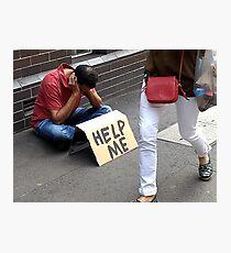 Help Me Photographic Print
