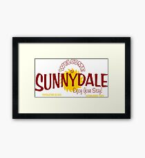 buffy - welcome to sunnydale Framed Print