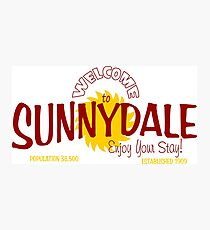buffy - welcome to sunnydale Photographic Print