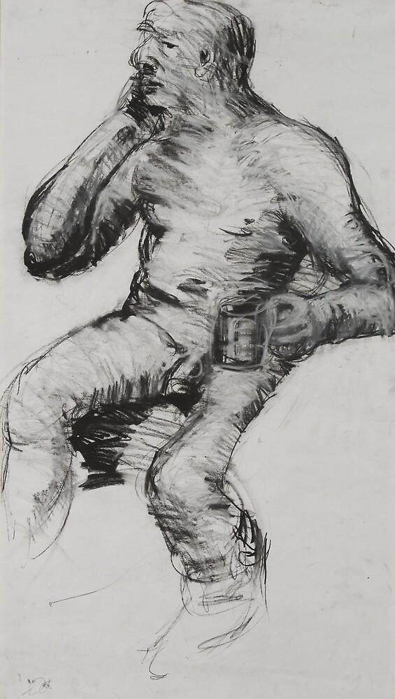 life drawing  by Debra Goldsmith