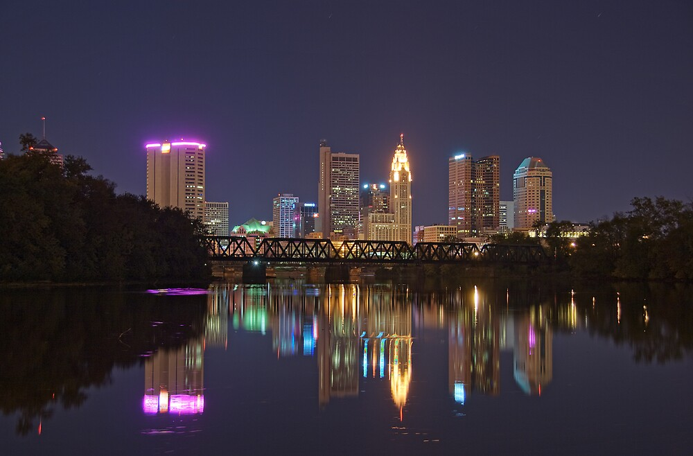 Nighttime in Columbus by MClementReilly