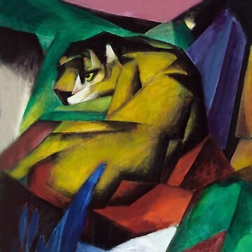 Franz Marc - The Tiger (background added to fit clothing) by TheCurators