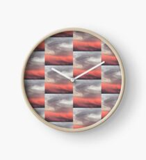 Abstract Sunset in Los Angeles Clock