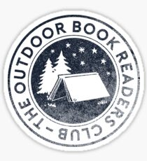 Outdoor Book Readers Club logo Sticker