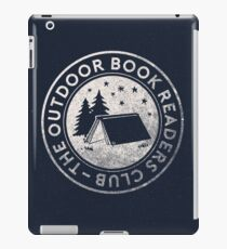 Outdoor Book Readers Club logo iPad Case/Skin