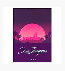 San Junipero Merchandise Photographic Print