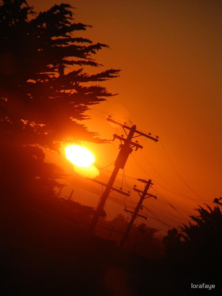 Crooked Sunset by lorafaye