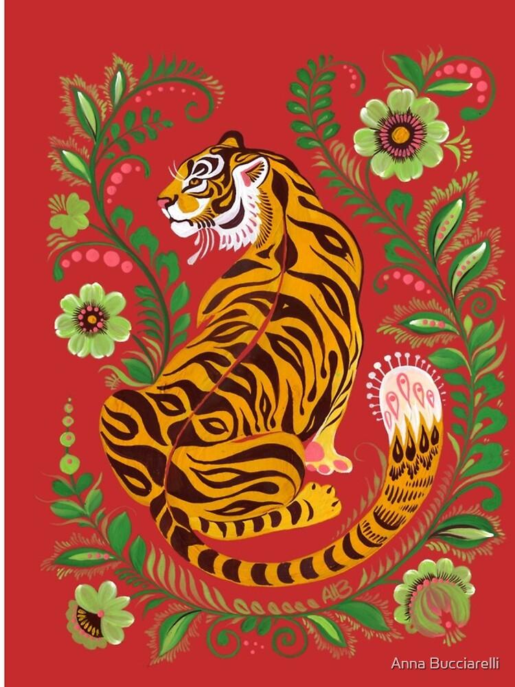 Tiger Folk Art by annabucciarelli