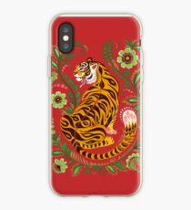 Tiger Folk Art iPhone Case