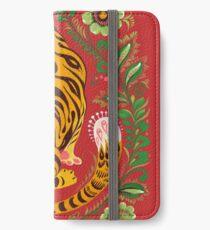 Tiger Folk Art iPhone Wallet/Case/Skin
