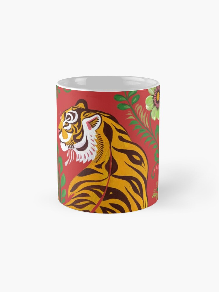 Vista alternativa de Tazas Tiger Folk Art
