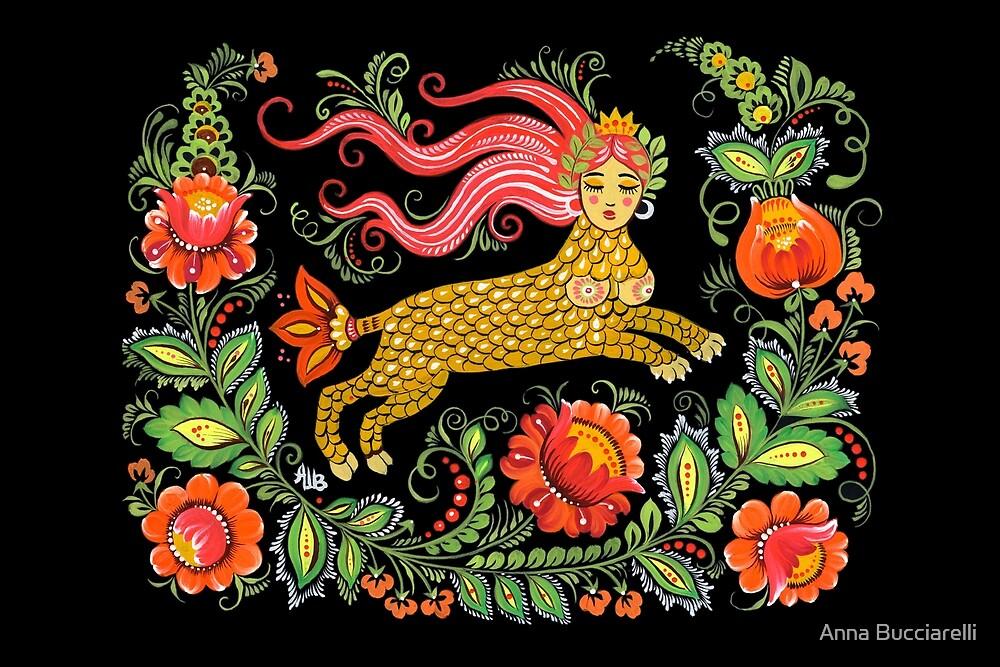 Magical Creature Folk Art (Lamia) by Anna Bucciarelli