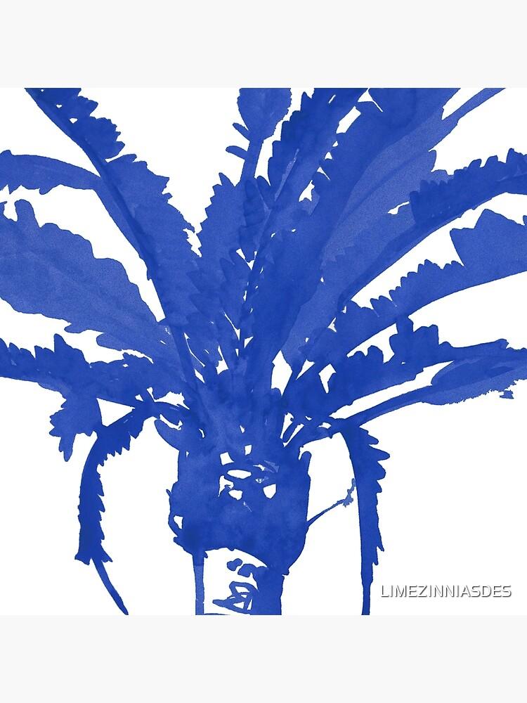 Stand Tall Blue Palm Tree by LIMEZINNIASDES