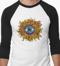 Psychedelic Sunflower - Just the flower Baseball ¾ Sleeve T-Shirt