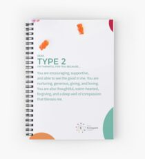 Enneagram Type 2 - Thankful for You Spiral Notebook