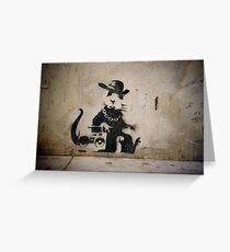 Gangsta Rat Greeting Card