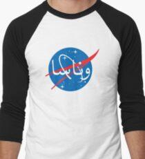 """""""Wanasa"""" logo in Arabic Men's Baseball ¾ T-Shirt"""
